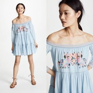 NWT Free People Light Blue Off the shoulder Dress
